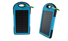 Printed Solar Power Bank With Data Line And Carabine