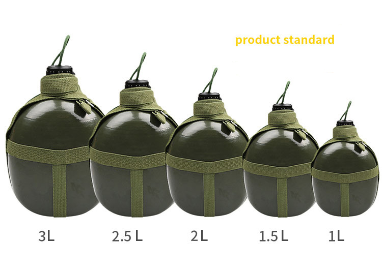 Portable Aluminium Military Army 2.5L Water Bottle