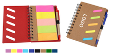 Eco-Friendly Memo Case Notebook With Sticky Flags & Pen