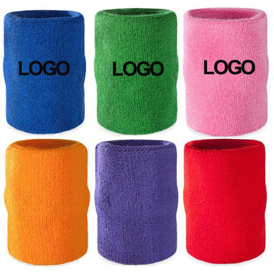 "Promotional Terry Cloth Athletic Wrist Sweat Band 4"" x 3"""