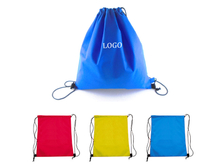 14 5/8 x 14 1/4 Inch 80GSM Non-woven Drawstring Cinch Backpack