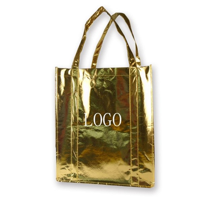 Promotional 100GSM Laminated Non-Woven Tote Shopping Grocery Bag