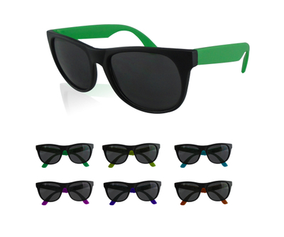 Rubberized Custom Two-tone Sunglasses