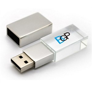 Imprinted LED Light Crystal USB Flash Drive