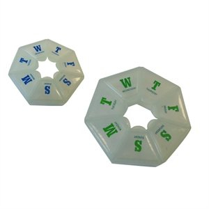 Promotional Round Rotary Pill Box