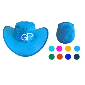 Customized Foldable Cowboy Hat With Pouch
