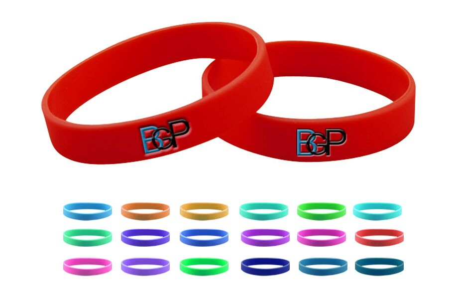 Promotional Silicone Rubber Custom Logo Wristbands