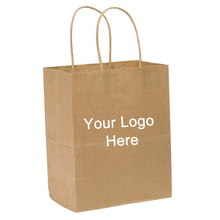 Custom Promotional Kraft Paper Tote Bag with Printed Logo