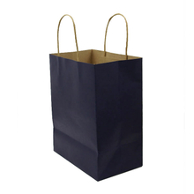 Recycled Navy Kraft Shopping Bag