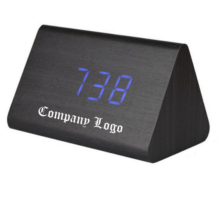 Personalized Creative Digital Wood Alarm Clock