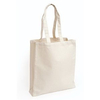 Canvas Tote Book Shopping Bag With Gusset
